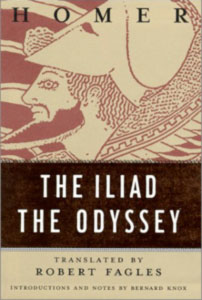 The Iliad, The Odyssey Book Cover