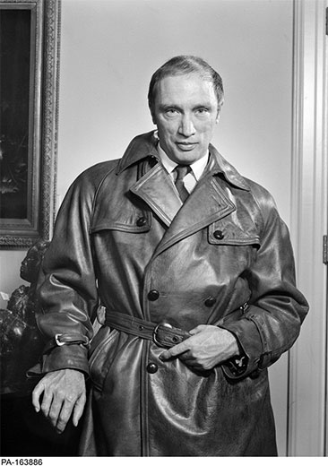 Trudeau by Yousuf Karsh – November 4, 1968. Trudeau often wore this leather coat on the campaign trail.