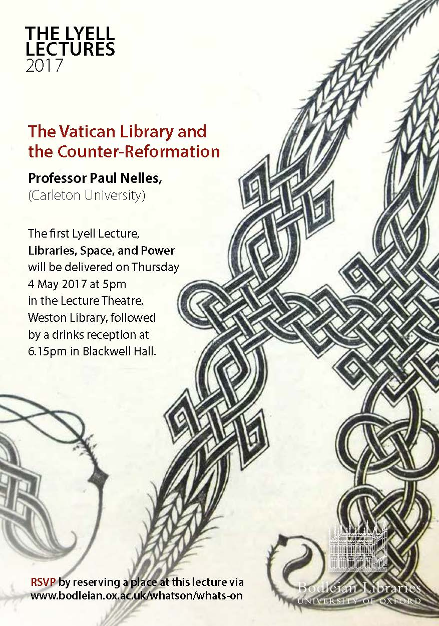 Lyell Lectures 2017