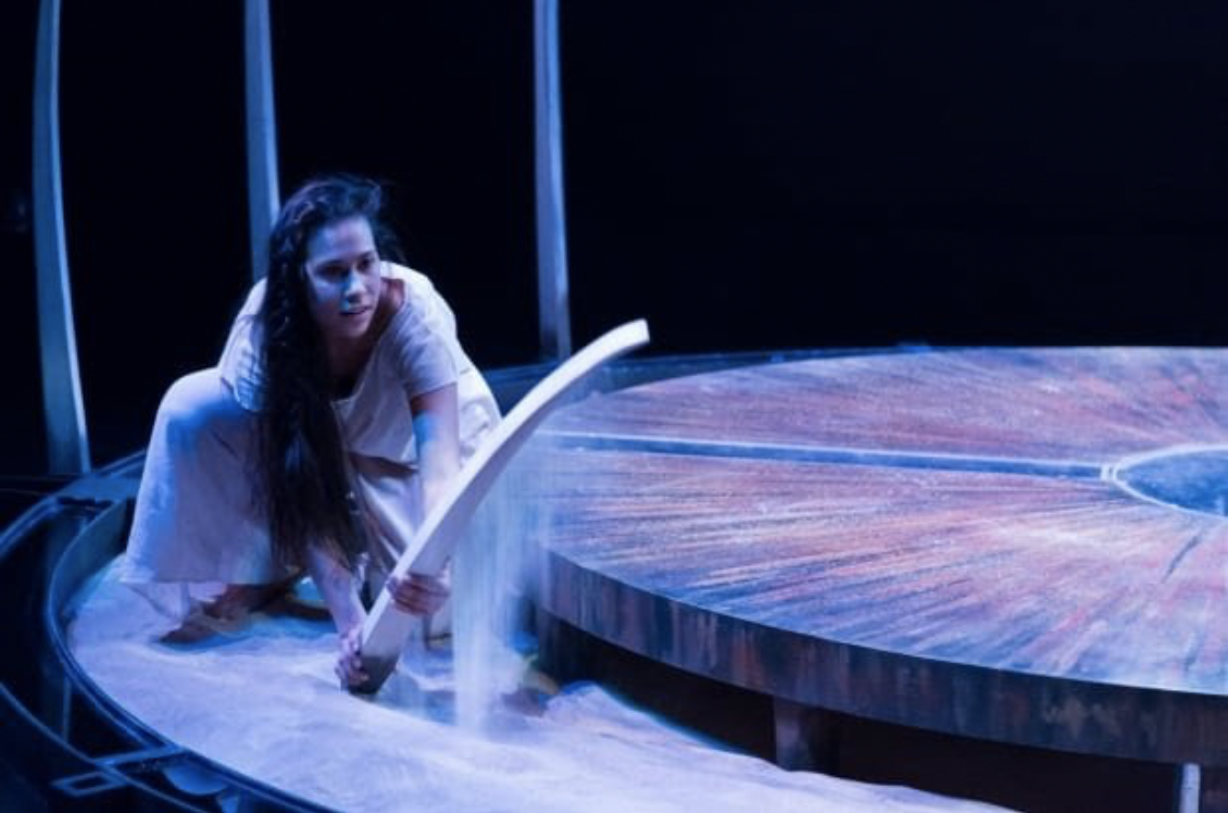 Aria Evans as she dances in dance theatre show Finding Wolastoq Voice.Submitted by Andre Reinders