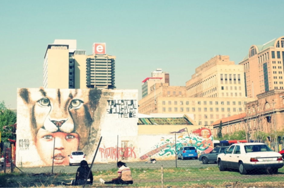 Graffiti in Newtown, downtown Johannesburg