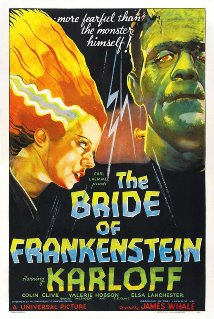horror film poster from The Bride of Frankenstein