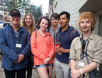 Alan and school friends at TIFF