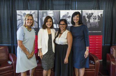 From L to R: Susan Ormiston, Anita Li, Alyshah Hasham, Joanne Chianello