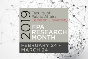 2019 FPA Research Month text logo on background of a networked globe
