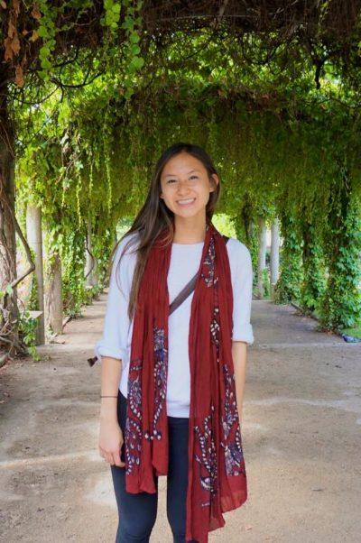 Vicky Tran poses outside.