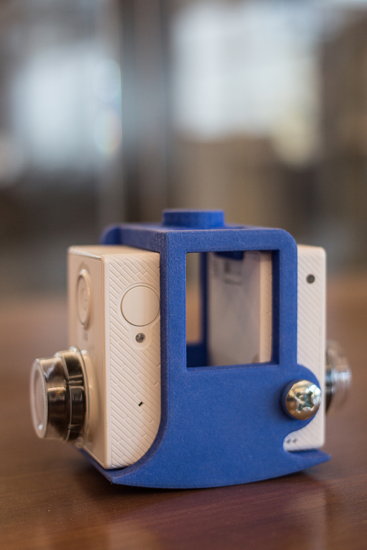 360 Camera that looks like a mini-movie projector