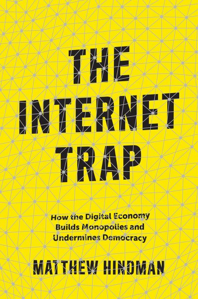 The Internet Trap book cover is bright yellow