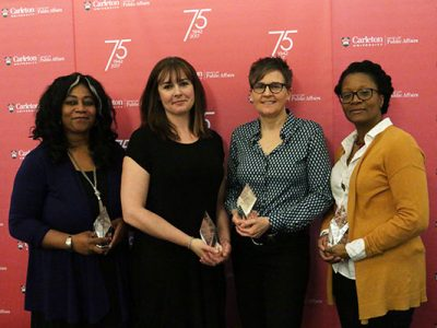 Photo for the news post: Exemplary Staff and Faculty Honoured at Spring Event