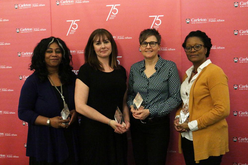 2017 Awards Winners (from left to right: Kamari Clarke, Sandra Robinson, Sandra Robinson, June Creighton Payne)