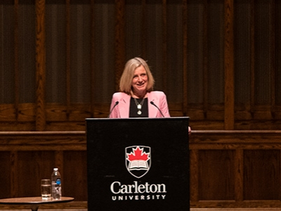 Photo for the news post: Climate Change and Pipelines: Rachel Notley's Take at the 2020 Bell Lecture
