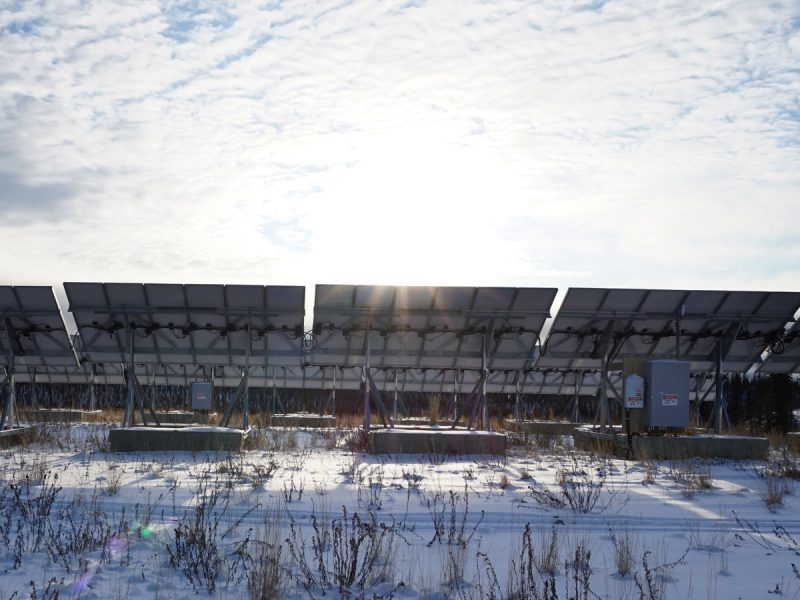 Solar Farm in Colville Lake, Northwest Territories.