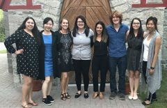 Lab team - members of photo appearing from left to right: Shelby Levine (MA Student), Kelly Wang (MA Student), Dr. Marina Milyavskaya (Lab Director), Kaitlyn M. Werner (PhD Student), Leyla Bagheri (MA Graduate), Jonathan Capaldi (MA Student), and Isabelle Leduc-Cummings (PhD Student), and Thanh Ly (Lab Manager)