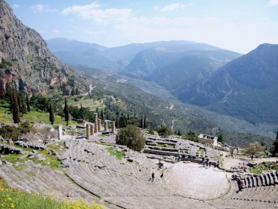 Temple of Apollo, Delphi, Greece.