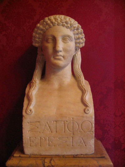 Bust of the poet Sappho. Musei Capitolini, Rome.