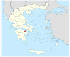 Map of Greece with Perchora