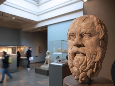 Socrates. British Museum, London. Roman copy of lost Greek original dating to 380—360 B.C.E.