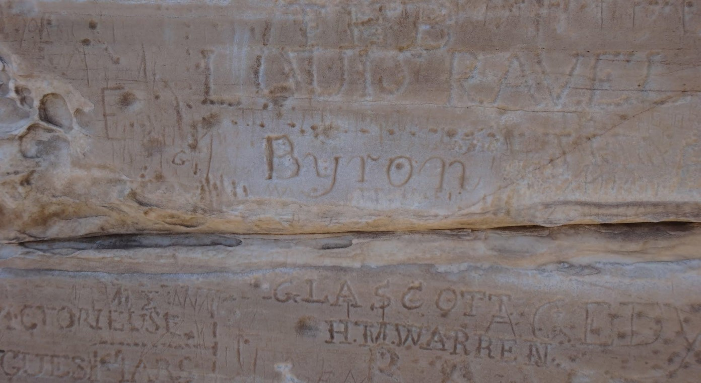 Lord Byron's signature at Sounion