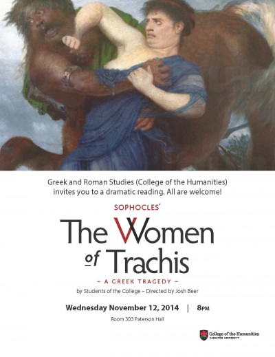 Women of Trachis Invitation GRS Wed Nov 12