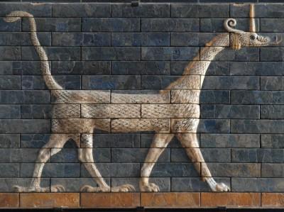 Mushussu Dragon, Ishtar Gate from Bablylon (Istanbul Archaeological Museum)