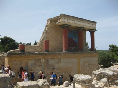 Carleton Greek and Roman Studies students in Knossos, Crete.