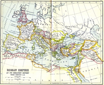 The Roman Empire at its greatest extent. 3rd cent. C.E.