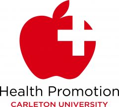 Health Promotion Icon: Red apple with white cross within it