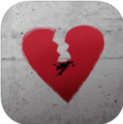 Break It Off Phone App Icon: Heart with Cigarette