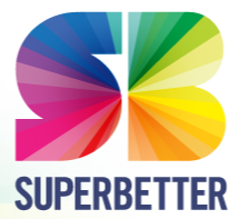 Super Better Phone App Icon: Coloured S and B