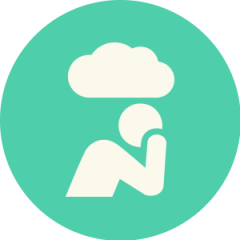 Icon: Individual with cloud above head