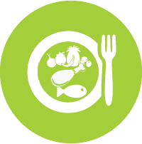 Icon: Plate with healthy food