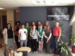 BHSc summer students 2015 - group with Sue and Edana