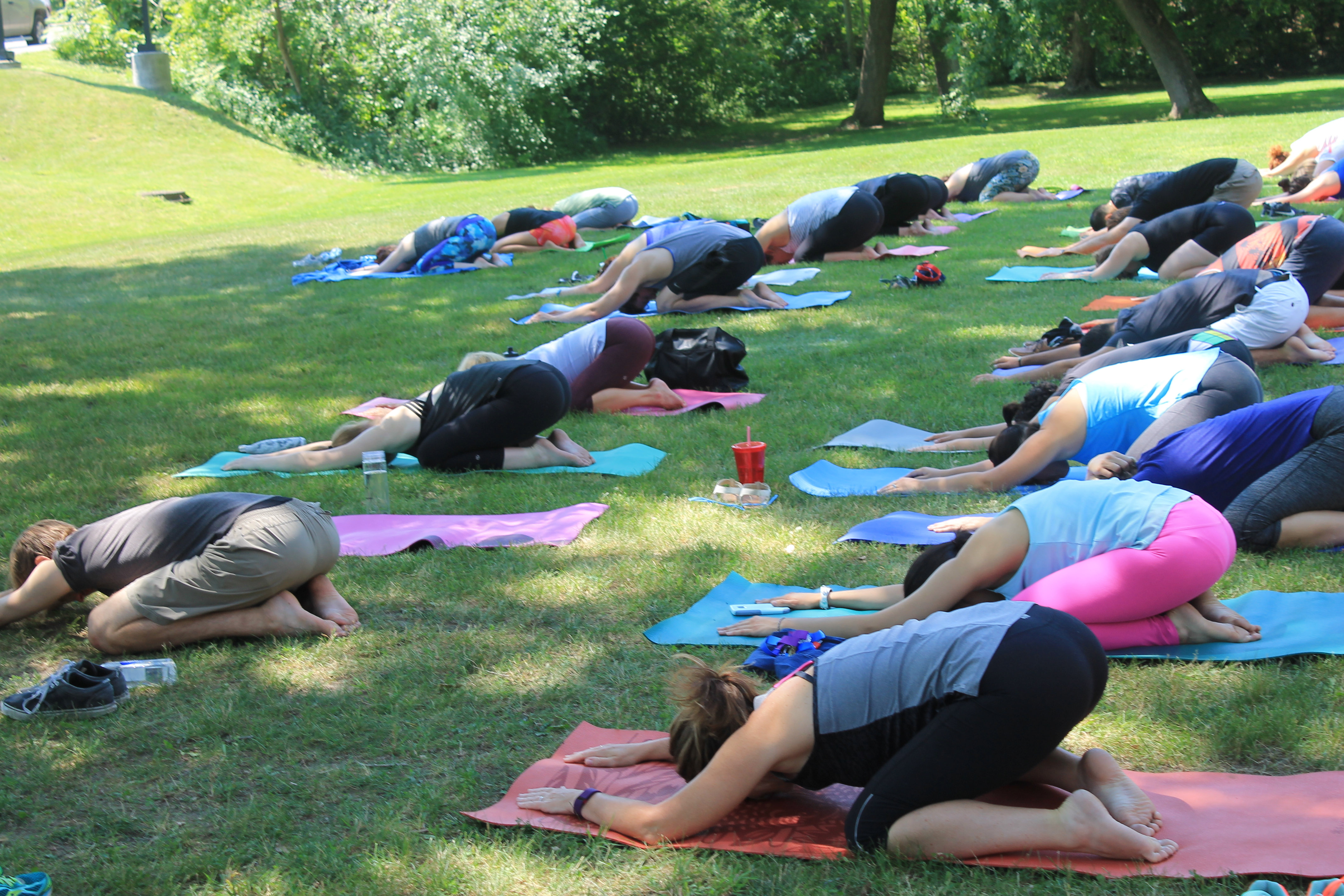 Outdoor Yoga Class a Great Success! - Healthy Workplace