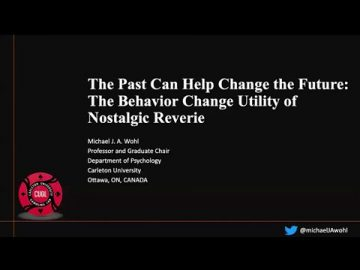 Thumbnail for: How nostalgic reverie for the pre-addicted self can facilitate behaviour change with Professor Michael Wohl