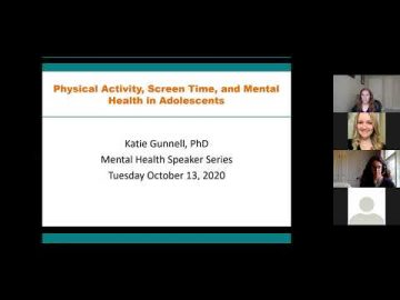 Thumbnail for: Physical Activity, Screen Time, and Mental Health in Adolescents with Professor Katie Gunnell