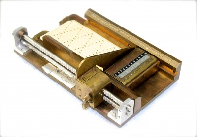 An early model of a punch-card reader to be used by computer programmers who were blind. Developed by Dr. James Swail at the NRC, c.1968.