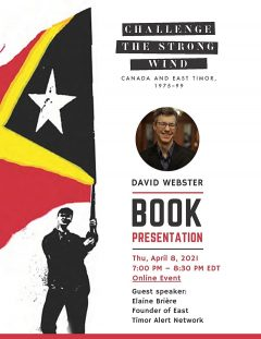book presentation event flyer