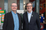 Professor Bruce Elliott standing with Mayor Jim Watson