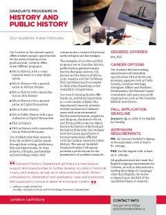 brochure text from grad studies