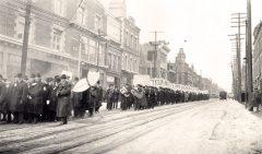 Barmen protesting prohibition in Toronto