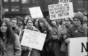 Feminists demanding abortion rights on Parliament Hill, May 1969