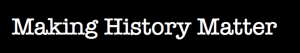Making History Matter logo Black Background