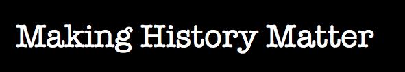 Making History Matter logo Black Background