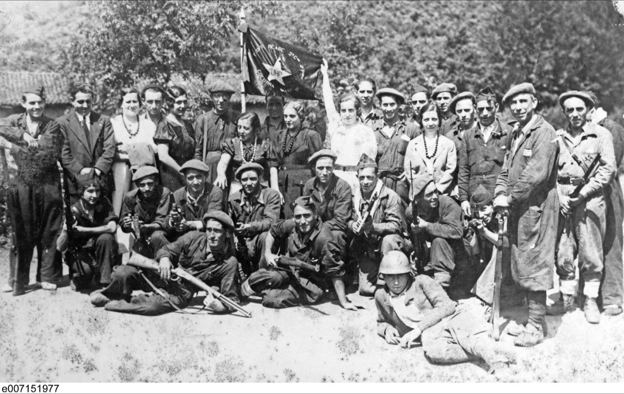 hist 3905a topics in international history spanish civil war photo of group of iers the spanish nationalists