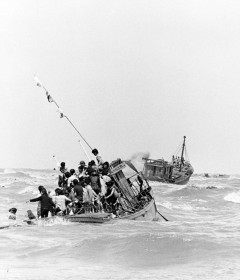 Vietnamese Boat People at sea