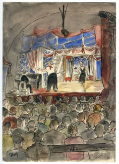 Cabaret scene illustrated