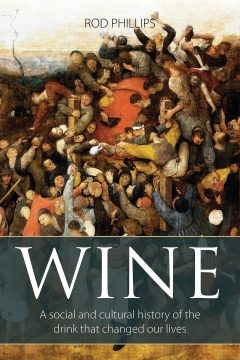book cover with about a hundred people trying to get a drink of wine