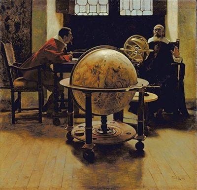 Tito Lessi, Galileo and Viviani, 1892 (Museo Galileo, Florence)