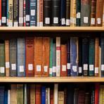 history books on shelf, Underhill reading room