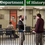students in department of history foyer